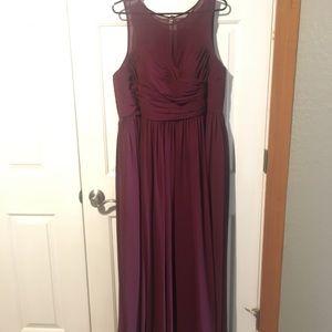 Azazie Bridesmaids Dress Cabernet